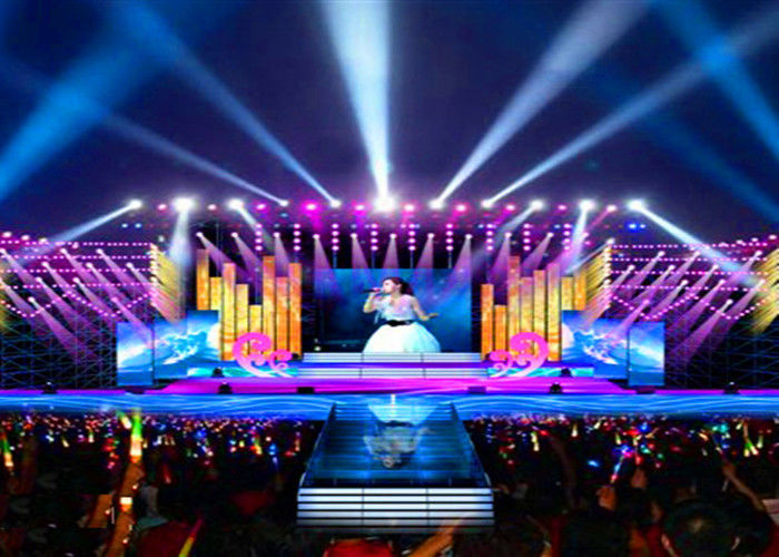 Chiny P4 Interior Stage Rental Wyświetlacz LED Concert Concert Background Video Wall Screens fabryka