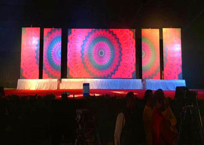 Chiny SMD2121 Ekran LED Scena tła, Led Video Wall Rental P3.91 na koncert fabryka